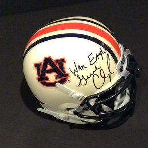 Auburn Tigers signed mini helmet Gene Chizik Schut